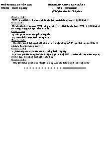 Đề khảo sát học sinh giỏi lớp 8 (lần 1) - Môn Sinh Học