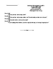 Đề kiểm tra học kì II lớp 8 môn: Sinh Học