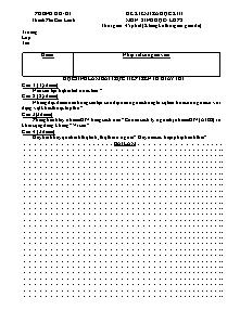 Đề kiểm tra học kì II - Môn: Sinh học - Lớp 8 - Đề 5