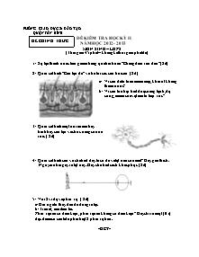 Đề kiểm tra học kỳ II môn Sinh lớp 8 - Đề chính thức