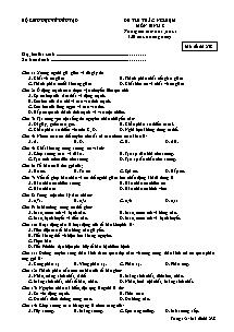 Đề thi trắc nghiệm - Môn Sinh 8 - Mã đề thi 238