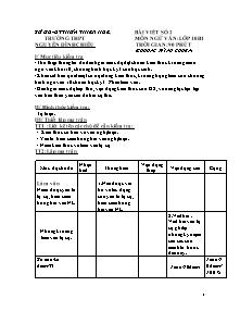 Bài viết số 2 - Môn học: Ngữ Văn lớp 10