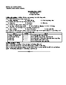 Đề kiểm tra 1 tiết - Môn: Sinh học 7 - Trường THCS Hùng Vương