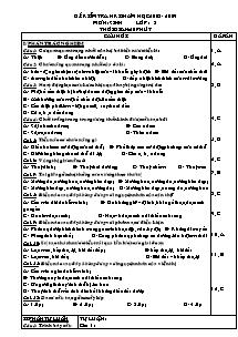 Đề kiểm tra 60' kì II - Môn: Sinh lớp 8
