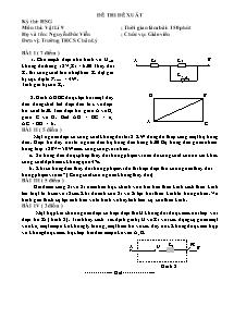 Đề thi đề xuất cho học sinh giỏi - Môn thi: Vật Lí 9