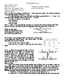 Đề thi đề xuất - Môn thi: Vật lí 9