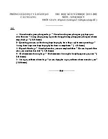 Đề thi học kì II - Môn: Sinh học 9 - Đề 2