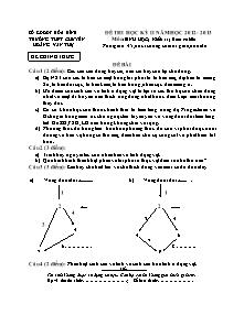 Đề thi học kỳ II - Môn: Sinh học - Khối: 11 (Ban cơ bản)