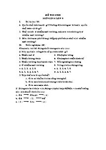 Đề thi kì II - Môn Sinh lớp 9