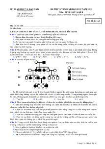 Đề thi tuyển sinh Đại học - Môn Sinh khối B - Mã đề thi 162