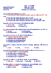 Kiểm tra 1 tiết môn Hóa 9 - Trường THCS Bình Thạnh