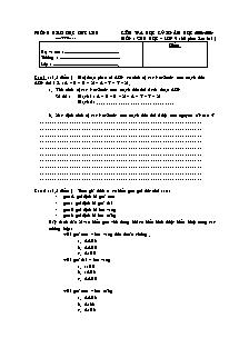 Kiểm tra 60' học kỳ II - Môn: Sinh học lớp 9