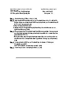 Kiểm tra học kì I - Môn: Sinh học 9 - Trường THCS Nguyễn Du