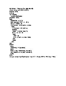 Tin học - Bài 58: Tổng các số tự nhiên liên tiếp