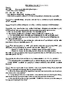 Bài kiểm tra số 1 - Môn Sinh 9