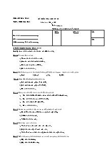 Đề kiểm tra học kỳ II - Môn Sinh 8 - Trường THCS Hữu Định
