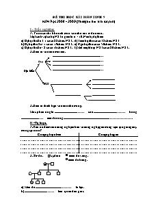 Đề thi học kì I - Môn Sinh 9 - Đề 10