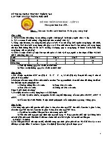 Đề thi môn Sinh học - Lớp 11