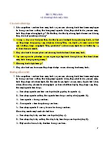 Giáo án môn Tin 8 - Bài 1 đến bài 8