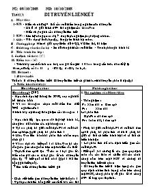 Giáo án Sinh 9 - Tiết 13: Di truyền liên kết