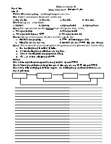 Kiểm tra học kì II - Môn: Sinh học 9 - Đề 9
