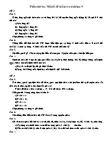 Một số đề kiểm tra Sinh học 9