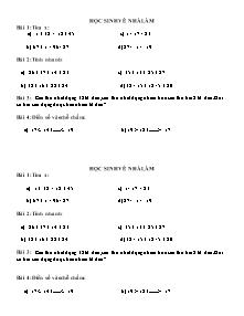 Bài tập bồi dưỡng học sinh giỏi Toán Lớp 2 - Năm học 2013-2014