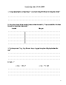 Bài tập ôn tập tuần 11 Toán Lớp 2 - Năm học 2009-2010
