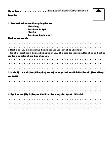 Bài tập tăng cường tuần 15 Toán Lớp 2