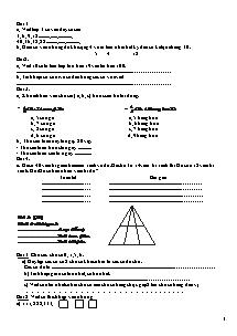 Bộ đề thi kiểm tra cuối năm Toán, Tiếng việt Lớp 2