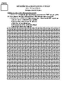 Đề kiểm tra chất lượng giữa học kì I Tiếng việt Lớp 1, 2