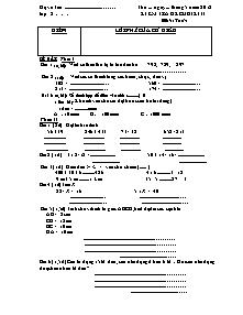 Đề kiểm tra cuối học kì II Toán Lớp 2 - Năm học 2011-2012