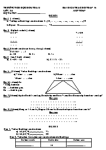 Đề kiểm tra cuối tuần 16 Toán, Tiếng việt Lớp 2 - Trường Tiểu học Hoàng Hoa Thám