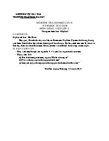 Đề kiểm tra định kì lần 2 Tiếng việt Lớp 4 - Năm học 2013-2014 - Trường Tiểu học Hà Sen