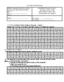 Đề kiểm tra giữa học kì I môn Tiếng việt Lớp 2 - Năm học 2013-2014 - Đinh Thị Mỹ Dung