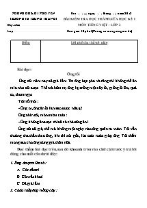 Đề kiểm tra giữa học kì I Tiếng việt Lớp 2 - Năm học 2012-2013 - Trường Tiểu học Trung Thành 1