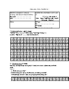 Đề kiểm tra giữa học kì I Tiếng việt Lớp 2 - Năm học 2012-2013 - Trần Thị Mỹ Lệ