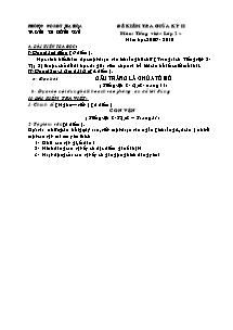 Đề kiểm tra giữa học kì II Tiếng việt Lớp 2 - Năm học 2009-2010 - Trường Tiểu học Đông Sơn