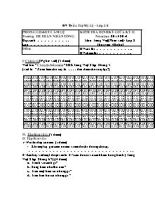 Đề kiểm tra giữa học kì II Tiếng việt Lớp 2 - Năm học 2013-2014 - Trần Thị Mỹ Lệ