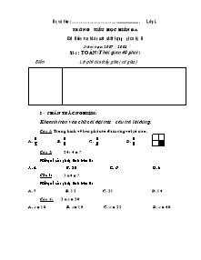 Đề kiểm tra giữa học kì II Toán, Tiếng việt Lớp 2 - Năm học 2007-2008 - Trường Tiểu học Hiền Đa