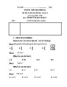 Đề kiểm tra giữa học kì II Toán, Tiếng việt Lớp 2 - Năm học 2008-2009 - Trường Tiểu học Hiền Đa