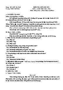 Đề kiểm tra giữa học kì II Toán, Tiếng việt Lớp 2 - Năm học 2013-2014 - Trường Tiểu học Thổ Châu