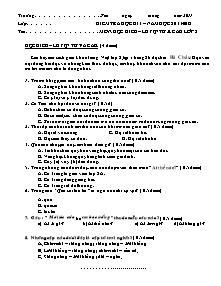 Đề kiểm tra học kì I Tiếng việt Khối 2 - Năm học 2011-2012
