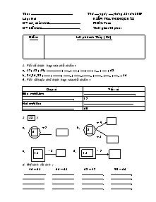 Đề kiểm tra học kì I Toán Khối 2 - Năm 2009-2010