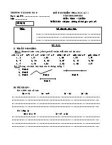 Đề kiểm tra học kì I Toán Lớp 4 - Năm học 2009-2010 - Trường Tiểu học Long Hà C