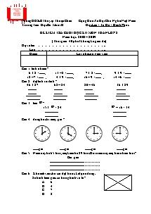 Đề kiểm tra học kì I Toán, Tiếng việt Lớp 2 - Năm học 2008-2009 - Trường Tiểu học Bó Mười B