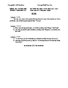 Đề kiểm tra học kì II Lịch sử Lớp 8 - Năm học 2012-2013 - Trường THCS Phổ Văn