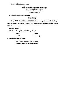 Đề kiểm tra học kì II Tiếng việt Khối Tiểu học