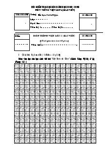 Đề kiểm tra học kì II Tiếng việt Lớp 2 - Năm học 2008-2009 - Trường Tiểu học Xuân Ngọc
