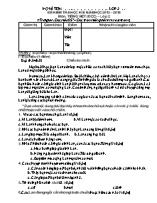 Đề kiểm tra học kì II Tiếng việt, Toán Lớp 2 - Năm học 2013-2014
